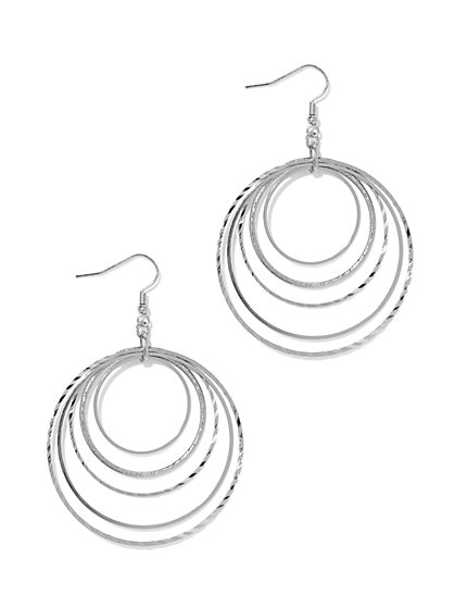 Orbital Hoop Drop Earring  - New York & Company