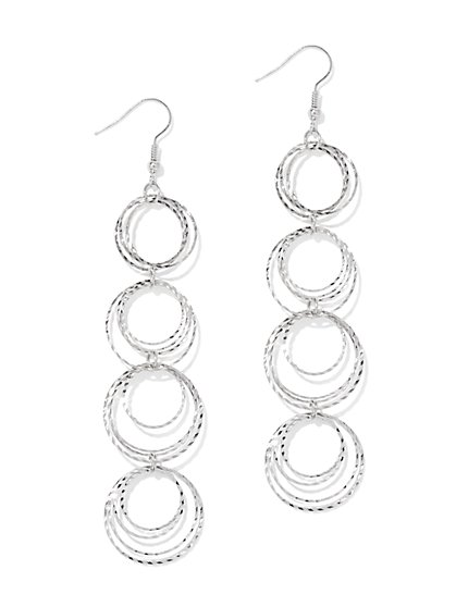 Orbital Linear Drop Earring  - New York & Company