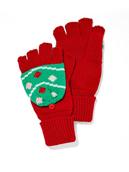 Ornament Flip-Top Gloves  - New York & Company