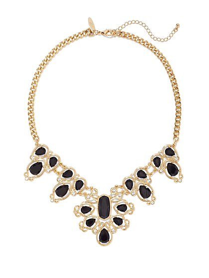 Ornate Bib Necklace  - New York & Company