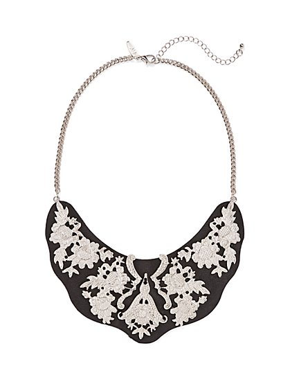 Ornate Floral Bib Necklace  - New York & Company
