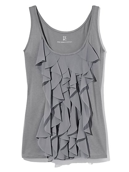 Outlet Exclusive - Cascade Ruffle Tank Top  - New York & Company