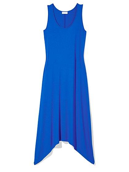 Outlet Exclusive - Sharkbite Hem Scoopneck Maxi Dress  - New York & Company