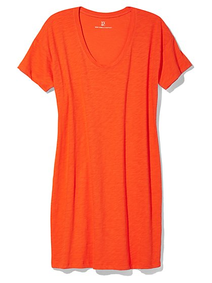 Outlet Exclusive - Short-Sleeve Scoopneck T-Shirt Dress - New York & Company