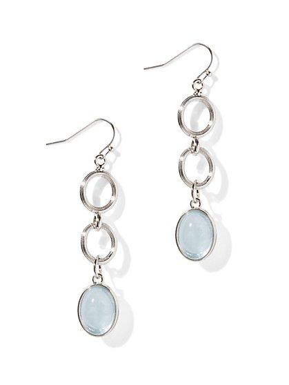 Oval Bead Triple-Drop Earrings