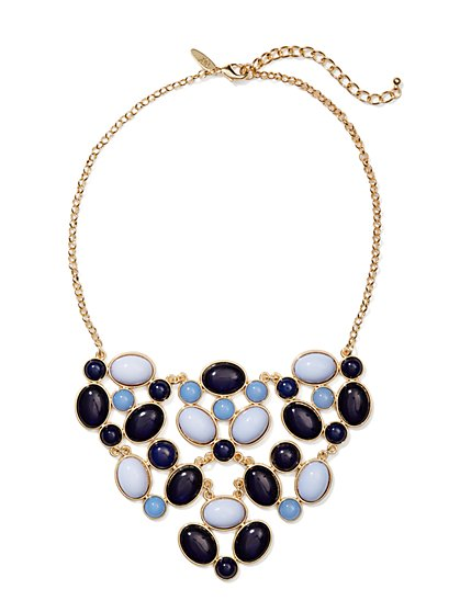 Oval Cabochons Bib Necklace