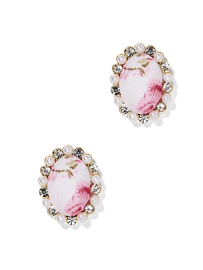Oval Floral Earring  - New York & Company