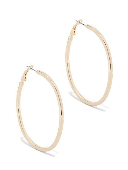 Oval Hoop Earring  - New York & Company