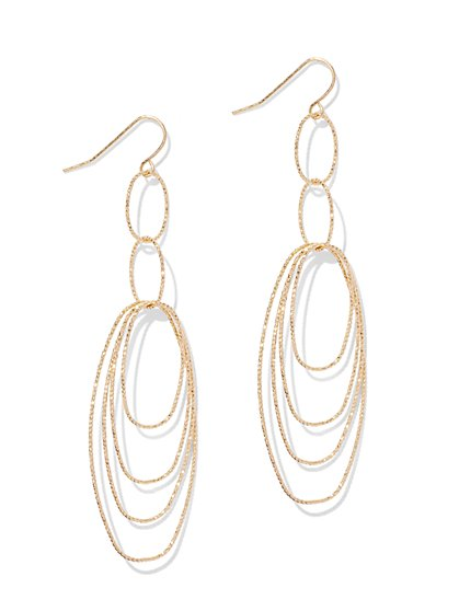Oval Linear Drop Earring  - New York & Company