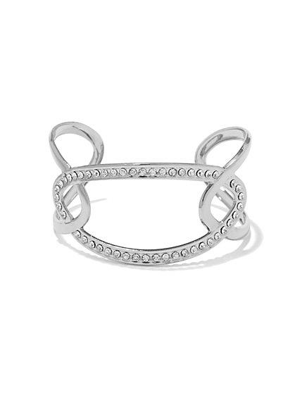 Oval Pave Cuff Bracelet  - New York & Company