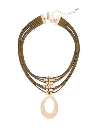 Oval Pendant Necklace  - New York & Company