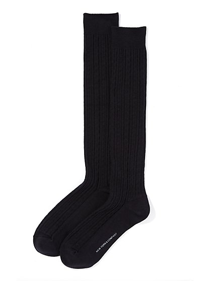 Over-The-Knee Cable-Knit Sock  - New York & Company