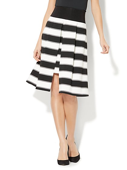 Overlay Full Skirt - Stripe - New York & Company