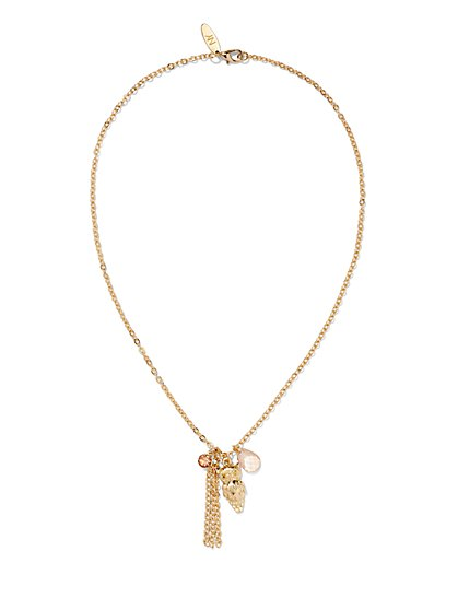 Owl & Tassel Pendant Necklace  - New York & Company