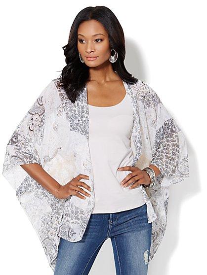 Paisley Convertible Scarf/Kimono - New York & Company