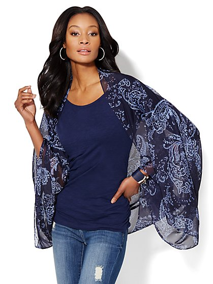 Paisley Convertible Shawl  - New York & Company