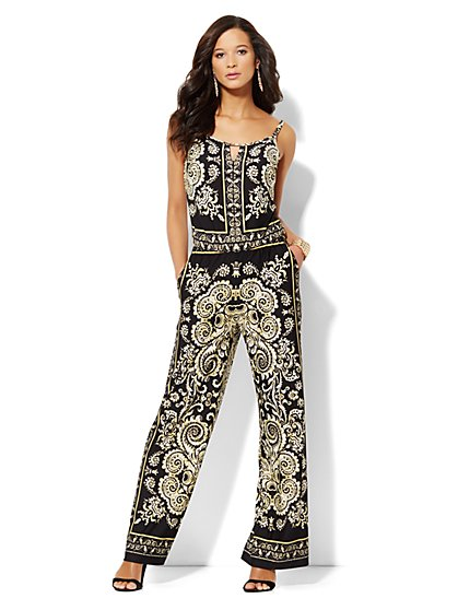 Paisley-Print Jumpsuit  - New York & Company