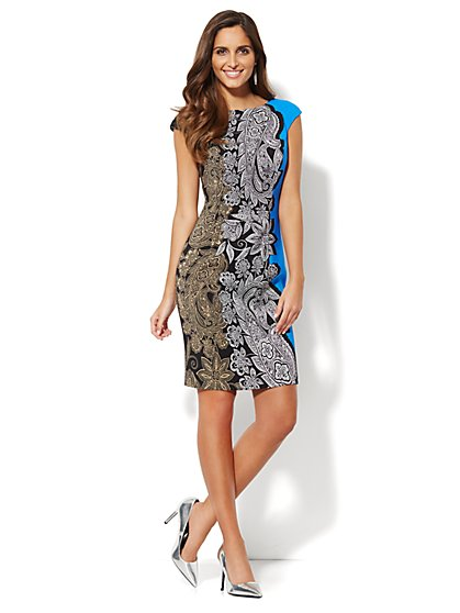 Paisley Sheath Dress  - New York & Company