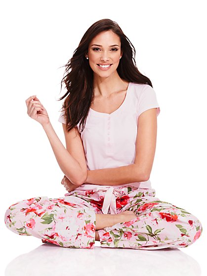 Pajama Set - Floral  - New York & Company