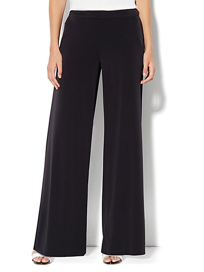 Palazzo Knit Pant - Black - New York & Company