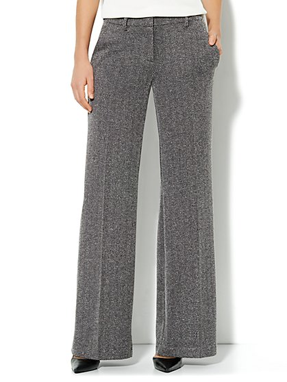 Palazzo Knit Pant - Tweed - New York & Company
