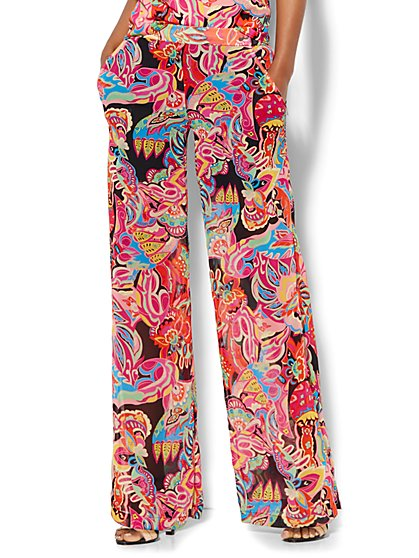 Palazzo Pant - Graphic Floral Print  - New York & Company