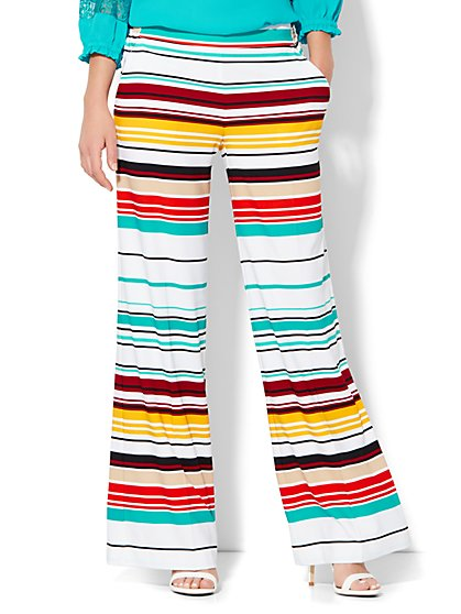 Palazzo Pant - Multicolored Stripe - New York & Company