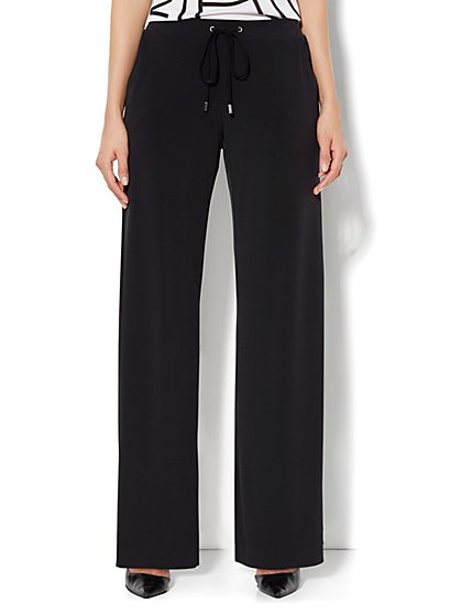 Palazzo Soft Knit Pant - Solid  - New York & Company