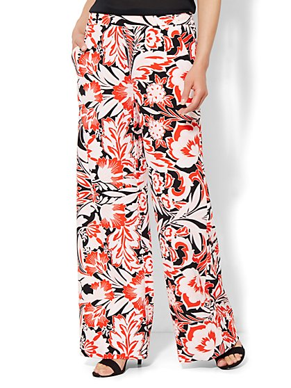 Palazzo Soft Pant -  Floral  - New York & Company