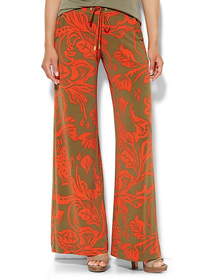 Palazzo Soft Pant - Tropical Floral  - New York & Company