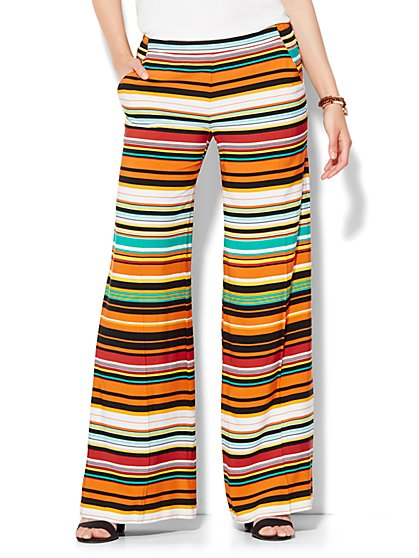 Palazzo Stretch Pant - Stripe  - New York & Company