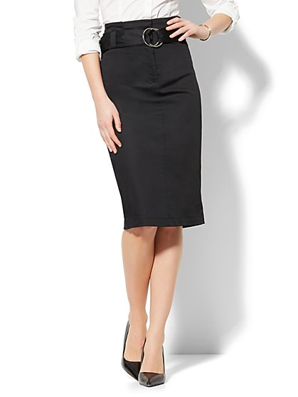 Paper Bag-Waist Pencil Skirt - New York & Company