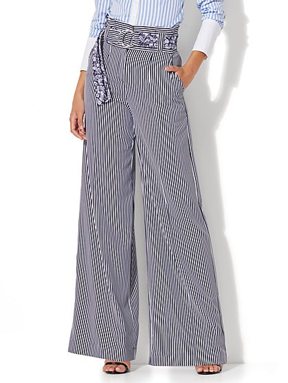 Paper Bag-Waist Wide-Leg Pant - New York & Company
