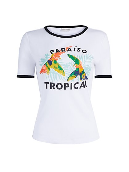 Paradise Graphic Tee - Eva Mendes Collection - New York & Company