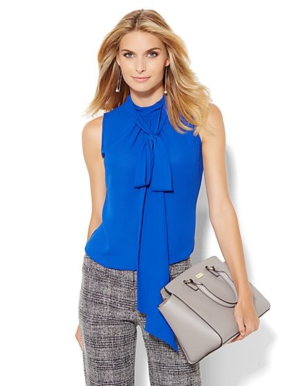 Park Avenue Bow Blouse - Sleeveless - New York & Company