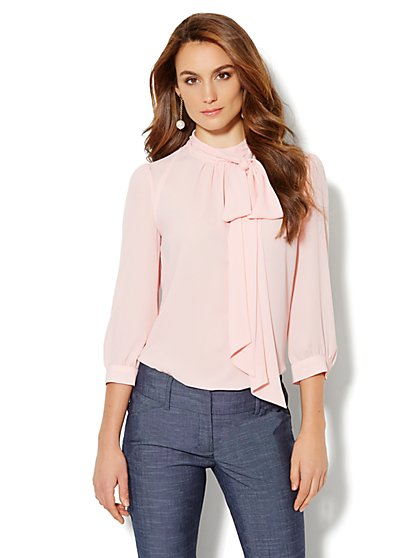 Park Avenue Bow Blouse - New York & Company
