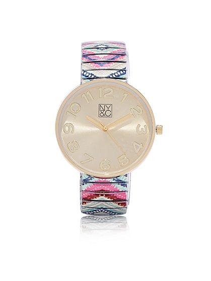 Pastel Aztec Watch  - New York & Company