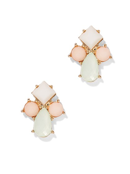 Pastel Faux-Stone Earring  - New York & Company