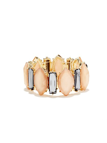 Pastel Faux-Stone Stretch Bracelet  - New York & Company