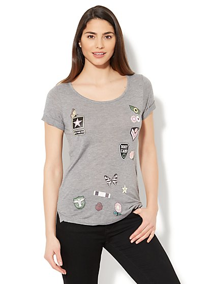 Patches Graphic Tee - New York & Company