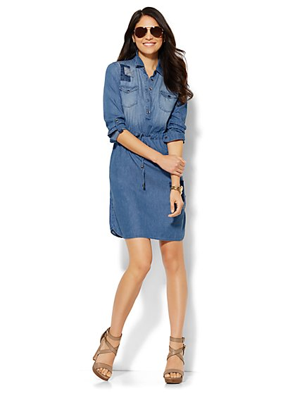 Patchwork Shirtdress  - New York & Company
