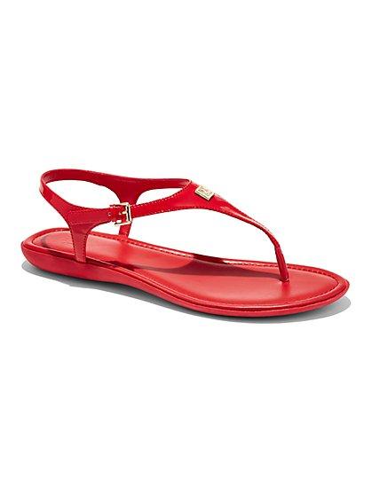 Patent T-Strap Sandal  - New York & Company