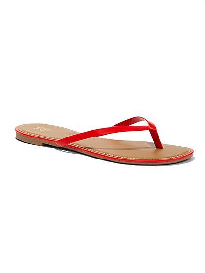 Patent Thong Sandal  - New York & Company
