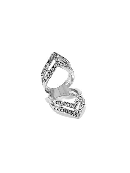 Pavé 4-Row Ring  - New York & Company