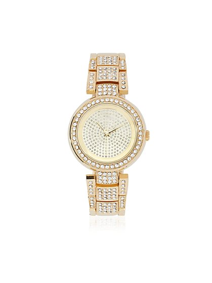 Pavé Accent Link Watch - New York & Company