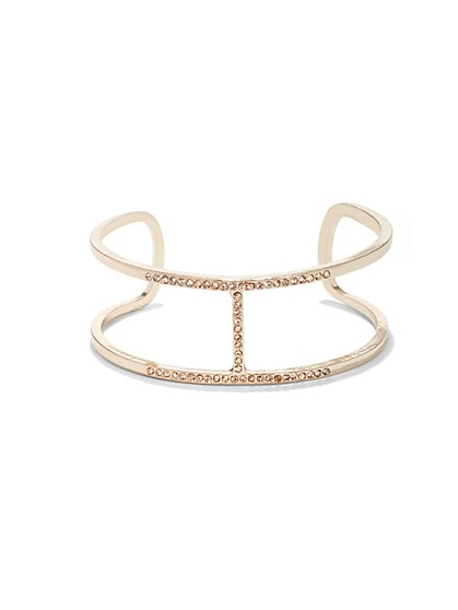 Pavé Bar Cuff Bracelet  - New York & Company