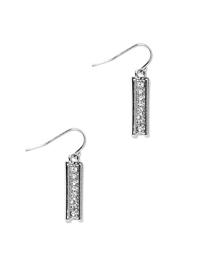 Pavé Bar Drop Earring  - New York & Company