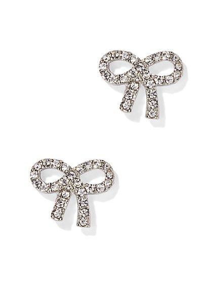 Pavé Bow Earring - New York & Company