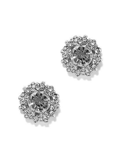 Pavé Cluster Post Earring  - New York & Company