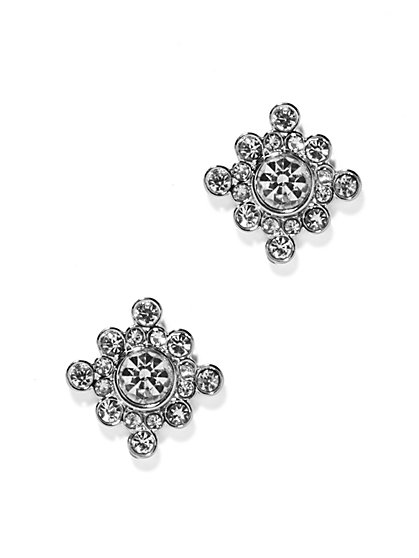 Pavé Compass Post Earring  - New York & Company